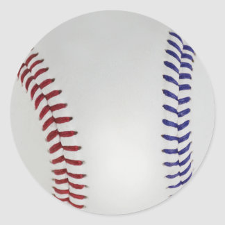 Baseball Fan-tastic_Color Laces_nb_dr Classic Round Sticker