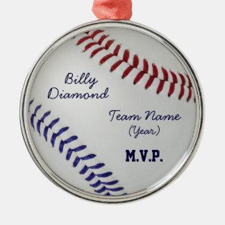 Baseball Fan-tastic_Color Laces_nb_dr Metal Ornament