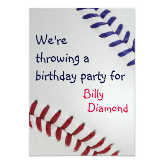 Baseball Fan-tastic_Color Laces_nb_dr Party Card