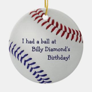 Baseball Fan-tastic_Color Laces_nb_dr_ party favor Ceramic Ornament