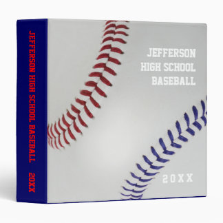 Baseball Fan-tastic_Color Laces_nb_dr_personalized 3 Ring Binders