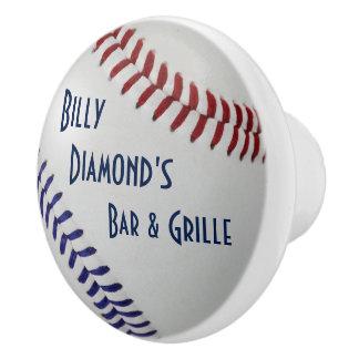 Baseball Fan-tastic_color Laces_nb_dr_personalized Ceramic Knob