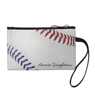 Baseball Fan-tastic_Color Laces_nb_dr_personalized Coin Purse