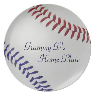 Baseball Fan-tastic_Color Laces_nb_dr_personalized Melamine Plate