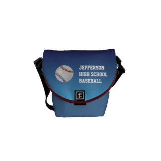 Baseball Fan-tastic_Color Laces_nb_dr_personalized Messenger Bag