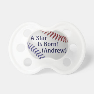 Baseball Fan-tastic_Color Laces_nb_dr_personalized Pacifiers