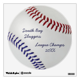 Baseball Fan-tastic_Color Laces_nb_dr_personalized Wall Sticker