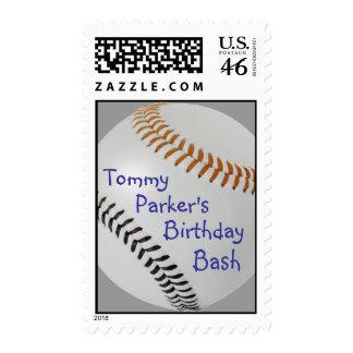 Baseball Fan-tastic_Color Laces_og_bk_personalized Postage Stamp