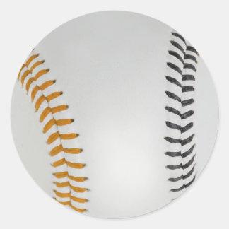 Baseball Fan-tastic_Color Laces_og_bk Round Sticker