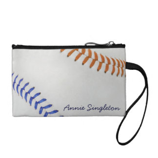 Baseball Fan-tastic_Color Laces_og_bl_personalized Change Purse