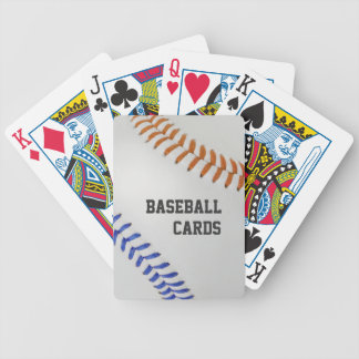 Baseball Fan-tastic_Color Laces_og_bl_personalized Bicycle Playing Cards