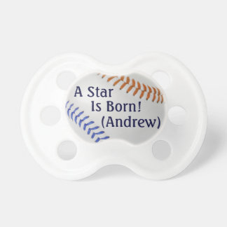 Baseball Fan-tastic_Color Laces_og_bl_personalized Pacifier