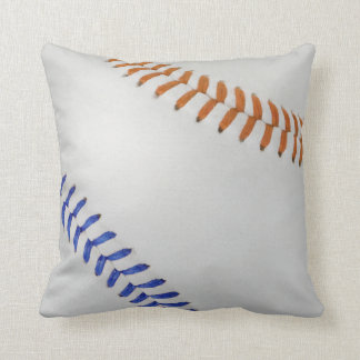 Baseball Fan-tastic_Color Laces_og_bl Throw Pillow