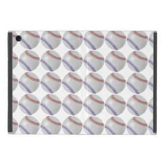 Baseball Fan-tastic_Color Laces_pattern_RD_BL iPad Mini Cases