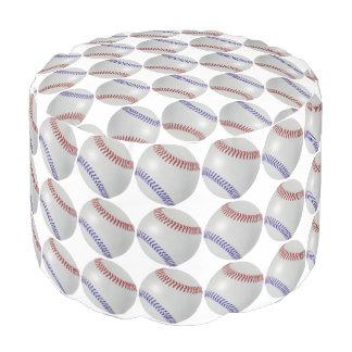 Baseball Fan-tastic_Color Laces_Patterns Pouf