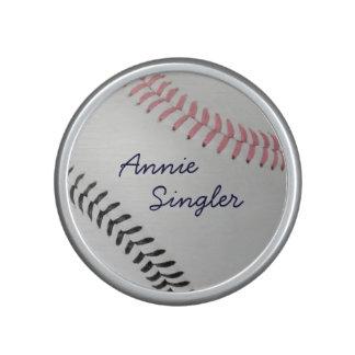 Baseball Fan-tastic_color Laces_pk_bk_personalized Bluetooth Speaker