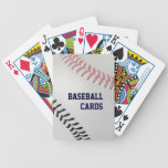 Baseball Fan-tastic_Color Laces_pk_bk_personalized Bicycle Poker Deck