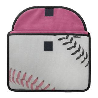 Baseball Fan-tastic_Color Laces_pk_bk Sleeve For MacBooks