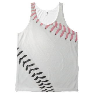 Baseball Fan-tastic_Color Laces_pk_bk_team spirit All-Over Print Tank Top