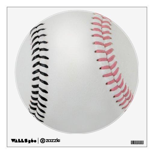 Baseball Fan-tastic_Color Laces_pk_bk Wall Stickers