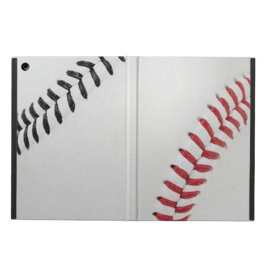 Baseball Fan-tastic_Color Laces_rd_bk iPad Air Cover