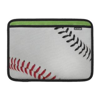 Baseball Fan-tastic_Color Laces_rd_bk MacBook Air Sleeve