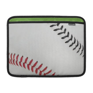 Baseball Fan-tastic_Color Laces_rd_bk Sleeves For MacBook Air