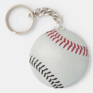 Baseball Fan-tastic_Color Laces_rd_bk Basic Round Button Keychain