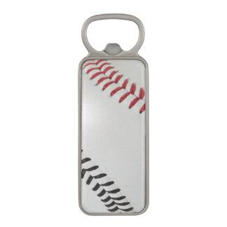 Baseball Fan-tastic_Color Laces_rd_bk Magnetic Bottle Opener