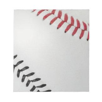 Baseball Fan-tastic_Color Laces_rd_bk Memo Pad