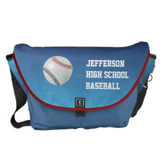 Baseball Fan-tastic_Color Laces_rd_bk Messenger Bag