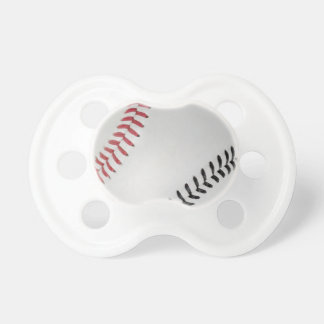 Baseball Fan-tastic_Color Laces_rd_bk Baby Pacifiers