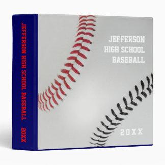 Baseball Fan-tastic_Color Laces_rd_bk_personalized Vinyl Binders