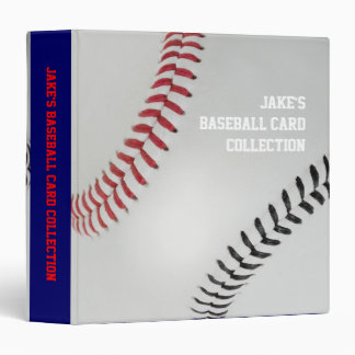 Baseball Fan-tastic_Color Laces_rd_bk_personalized 3 Ring Binder