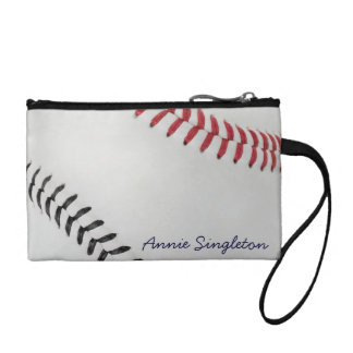 Baseball Fan-tastic_Color Laces_rd_bk_personalized Coin Purse
