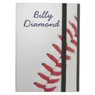 Baseball Fan-tastic_Color Laces_rd_bk_personalized iPad Cases