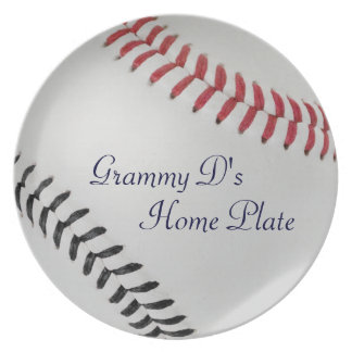 Baseball Fan-tastic_Color Laces_rd_bk_personalized Plates