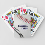 Baseball Fan-tastic_Color Laces_rd_bk_personalized Bicycle Poker Deck
