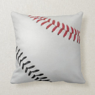 Baseball Fan-tastic_Color Laces_rd_bk Throw Pillows