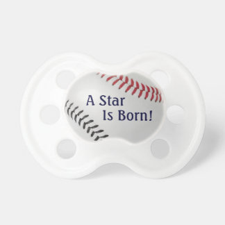 Baseball Fan-tastic_Color Laces_rd_bk_Star is Born Pacifier