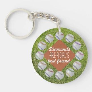 Baseball Fan-tastic_Diamonds_Girl's Best Friend Keychain