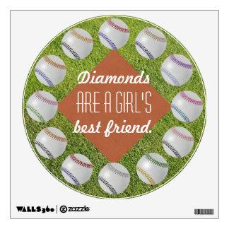 Baseball Fan-tastic_Diamonds_Girl's Best Friend Wall Skin
