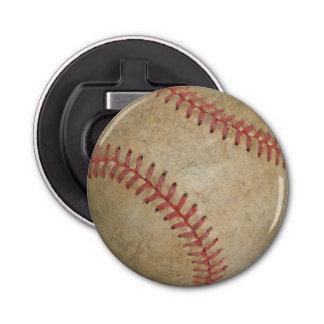Baseball Fan-tastic_dirty ball_old school Button Bottle Opener