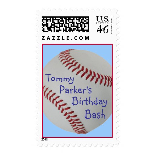 Baseball Fan-tastic_personalized party postage