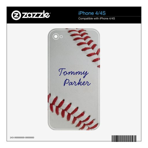 Baseball Fan-tastic_pitch perfect _Autograph Style Decals For iPhone 4