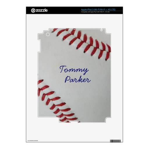 Baseball Fan-tastic_pitch perfect _Autograph Style iPad 3 Decals