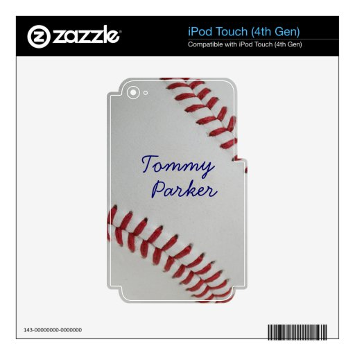 Baseball Fan-tastic_Pitch Perfect _Autograph Style Decals For iPod Touch 4G
