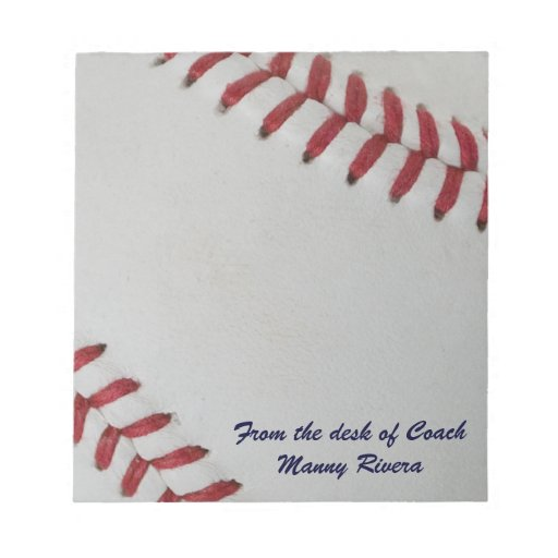 Baseball Fan-tastic_pitch perfect_personalized Memo Pads