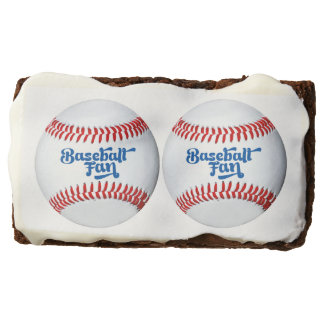 Baseball Fan Theme Party Brownies