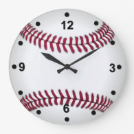 Baseball Fan Wall Clock